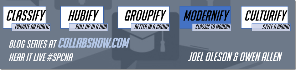 Modernify SharePoint